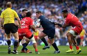 21 April 2019; Tadhg Furlong of Leinster is tackled by Joe Tekori of Toulouse during the Heineken Champions Cup Semi-Final match between Leinster and Toulouse at the Aviva Stadium in Dublin. Photo by Brendan Moran/Sportsfile