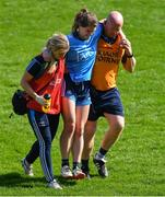 21 April 2019; Noëlle Healy of Dublin is helped off the field after picking up an injury in extra-time during the Lidl NFL Division 1 semi-final match between Cork and Dublin at the Nowlan Park in Kilkenny. Photo by Piaras Ó Mídheach/Sportsfile