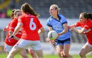 21 April 2019; Nicole Owens of Dublin is tackled by Melissa Duggan of Cork, right, during the Lidl NFL Division 1 semi-final match between Cork and Dublin at the Nowlan Park in Kilkenny. Photo by Piaras Ó Mídheach/Sportsfile