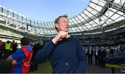 21 April 2019; Leinster head coach Leo Cullen celebrates following the Heineken Champions Cup Semi-Final match between Leinster and Toulouse at the Aviva Stadium in Dublin. Photo by David Fitzgerald/Sportsfile
