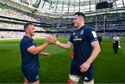 21 April 2019; Ed Byrne, left, and James Ryan of Leinster following the Heineken Champions Cup Semi-Final match between Leinster and Toulouse at the Aviva Stadium in Dublin. Photo by Ramsey Cardy/Sportsfile