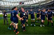 21 April 2019; Leinster players including Jack Conan, James Ryan and Ed Byrne following the Heineken Champions Cup Semi-Final match between Leinster and Toulouse at the Aviva Stadium in Dublin. Photo by Ramsey Cardy/Sportsfile