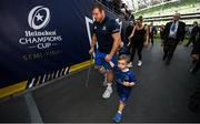 21 April 2019; Seán Cronin of Leinster with his son Finn following the Heineken Champions Cup Semi-Final match between Leinster and Toulouse at the Aviva Stadium in Dublin. Photo by David Fitzgerald/Sportsfile