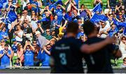 21 April 2019; Tadhg Furlong and Cian Healy of Leinster with Leinster supporters during the Heineken Champions Cup Semi-Final match between Leinster and Toulouse at the Aviva Stadium in Dublin. Photo by Ramsey Cardy/Sportsfile