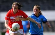 21 April 2019; Áine O'Sullivan of Cork in action against Aoife Kane of Dublin during the Lidl NFL Division 1 semi-final match between Cork and Dublin at the Nowlan Park in Kilkenny. Photo by Piaras Ó Mídheach/Sportsfile
