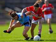 21 April 2019; Eimear Scally of Cork in action against Niamh Collins of Dublin during the Lidl NFL Division 1 semi-final match between Cork and Dublin at the Nowlan Park in Kilkenny. Photo by Piaras Ó Mídheach/Sportsfile