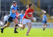 21 April 2019; Ciara O'Sullivan of Cork in action against Olwen Carey of Dublin during the Lidl NFL Division 1 semi-final match between Cork and Dublin at the Nowlan Park in Kilkenny. Photo by Piaras Ó Mídheach/Sportsfile