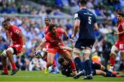 21 April 2019; Yoann Huget of Toulouse is tackled by Robbie Henshaw of Leinster  at the Heineken Champions Cup Semi-Final match between Leinster and Toulouse at the Aviva Stadium in Dublin. Photo by Sam Barnes/Sportsfile