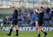 21 April 2019; Cian Healy and Tadhg Furlong of Leinster following the Heineken Champions Cup Semi-Final match between Leinster and Toulouse at the Aviva Stadium in Dublin. Photo by Sam Barnes/Sportsfile
