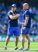 21 April 2019; Leinster backs coach Felipe Contepomi, left, and senior coach Stuart Lancaster during the Heineken Champions Cup Semi-Final match between Leinster and Toulouse at the Aviva Stadium in Dublin. Photo by Ramsey Cardy/Sportsfile