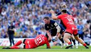 21 April 2019; Tadhg Furlong of Leinster is tackled by Francois Cros of Toulouse during the Heineken Champions Cup Semi-Final match between Leinster and Toulouse at the Aviva Stadium in Dublin. Photo by Ramsey Cardy/Sportsfile