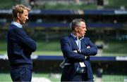 21 April 2019; Leinster head coach Leo Cullen, left, and Leinster Head of Rugby Operations Guy Easterby prior to the Heineken Champions Cup Semi-Final match between Leinster and Toulouse at the Aviva Stadium in Dublin. Photo by Brendan Moran/Sportsfile