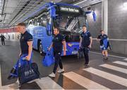 21 April 2019; The Leinster team, including James Tracy, Sean Cronin and Jonathan Sexton arrive prior to the Heineken Champions Cup Semi-Final match between Leinster and Toulouse at the Aviva Stadium in Dublin. Photo by Brendan Moran/Sportsfile