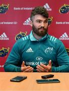 22 April 2019; Sammy Arnold during a Munster Rugby Press Conference at University of Limerick in Limerick. Photo by Piaras Ó Mídheach/Sportsfile