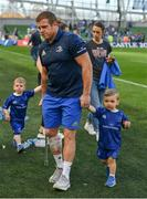 21 April 2019; Seán Cronin of Leinster with his son Finn after the Heineken Champions Cup Semi-Final match between Leinster and Toulouse at the Aviva Stadium in Dublin. Photo by Brendan Moran/Sportsfile