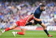21 April 2019; Robbie Henshaw of Leinster is tackled by Romain Ntamack of Toulouse during the Heineken Champions Cup Semi-Final match between Leinster and Toulouse at the Aviva Stadium in Dublin. Photo by Brendan Moran/Sportsfile