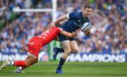 21 April 2019; Rory O'Loughlin of Leinster is tackled by Romain Ntamack of Toulouse after the Heineken Champions Cup Semi-Final match between Leinster and Toulouse at the Aviva Stadium in Dublin. Photo by Brendan Moran/Sportsfile