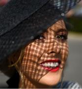 22 April 2019; Racegoer Sinead Leonard from Beaumont, Co Dublin prior to racing at Fairyhouse Easter Festival - Irish Grand National day at Fairyhouse Racecourse in Ratoath, Meath. Photo by David Fitzgerald/Sportsfile