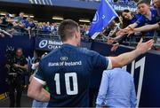 21 April 2019; Jonathan Sexton of Leinster leaves the pitch after the Heineken Champions Cup Semi-Final match between Leinster and Toulouse at the Aviva Stadium in Dublin. Photo by Brendan Moran/Sportsfile