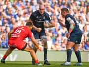 21 April 2019; Devin Toner of Leinster in action against Maks Van Dyk of Toulouse during the Heineken Champions Cup Semi-Final match between Leinster and Toulouse at the Aviva Stadium in Dublin. Photo by Brendan Moran/Sportsfile