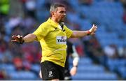 20 April 2019; Referee Jérome Garcès during the Heineken Champions Cup Semi-Final match between Saracens and Munster at the Ricoh Arena in Coventry, England. Photo by Brendan Moran/Sportsfile
