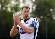 22 April 2019; Brian Gartland of Dundalk applauds fans following the SSE Airtricity League Premier Division match between UCD and Dundalk at the UCD Bowl, Belfield in Dublin. Photo by Harry Murphy/Sportsfile