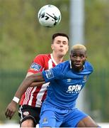 22 April 2019; Izzy Akinade of Waterford in action against Josh Kerr of Derry during the SSE Airtricity League Premier Division match between Waterford and Derry at the RSC in Waterford. Photo by Matt Browne/Sportsfile
