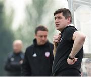 22 April 2019; Derry manager Declan Devine during the SSE Airtricity League Premier Division match between Waterford and Derry at the RSC in Waterford. Photo by Matt Browne/Sportsfile