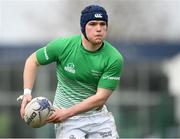 17 April 2019; Louis Gainfort of South East during the U18 Bank of Ireland Leinster Rugby Shane Horgan Cup - Final Round match between South East and Metropolitan at IT Carlow in Moanacurragh, Carlow. Photo by Harry Murphy/Sportsfile