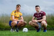 23 April 2019; Enda Smith of Roscommon, left, and Damien Comer of Galway at the official launch of the 2019 Connacht GAA Football Championships at Connacht GAA Centre in Claremorris, Co. Mayo. Photo by Harry Murphy/Sportsfile