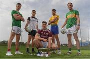 23 April 2019; Diarmuid O'Connor of Mayo, Niall Murphy of Sligo, Damien Comer of Galway, Enda Smith of Roscommon and Mícheál McWeeney of Leitrim at the official launch of the 2019 Connacht GAA Football Championships at Connacht GAA Centre in Claremorris, Co. Mayo. Photo by Harry Murphy/Sportsfile