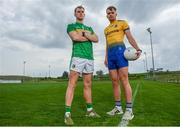 23 April 2019; Mícheál McWeeney of Leitrim, left, and Enda Smith of Roscommon at the official launch of the 2019 Connacht GAA Football Championships at Connacht GAA Centre in Claremorris, Co. Mayo. Photo by Harry Murphy/Sportsfile
