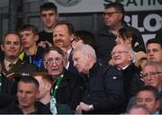 23 April 2019; The President of Ireland Michael D. Higgins during the SSE Airtricity League Premier Division match between Shamrock Rovers at Bohemians at Tallaght Stadium in Dublin. Photo by Eóin Noonan/Sportsfile