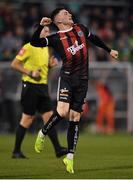 23 April 2019; Daniel Grant of Bohemians celebrates following his side's first goal during the SSE Airtricity League Premier Division match between Shamrock Rovers at Bohemians at Tallaght Stadium in Dublin. Photo by Seb Daly/Sportsfile