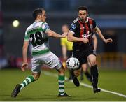 23 April 2019; Kevin Devaney of Bohemians in action against Joey O'Brien of Shamrock Rovers during the SSE Airtricity League Premier Division match between Shamrock Rovers at Bohemians at Tallaght Stadium in Dublin. Photo by Seb Daly/Sportsfile