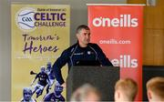 24 April 2019; Liam Sheedy, Tipperary hurling manager and Bank of Ireland Ambassador, speaking at the launch of the Bank of Ireland Celtic Challenge 2019 at Croke Park in Dublin. Photo by Piaras Ó Mídheach/Sportsfile