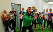 24 April 2019; Henry Shefflin, Ballyhale Shamrocks manager and Bank of Ireland Ambassador, during a coaching session at the launch of the Bank of Ireland Celtic Challenge 2019 at Croke Park in Dublin. Photo by Piaras Ó Mídheach/Sportsfile