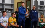 24 April 2019; Tipperary hurling captain Séamus Callanan and Tipperary hurling manager Liam Sheedy, both Bank of Ireland Ambassadors, speaking at the launch of the Bank of Ireland Celtic Challenge 2019 at Croke Park in Dublin. Photo by Piaras Ó Mídheach/Sportsfile