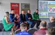 24 April 2019; MC Valerie Wheeler, left, with Bank of Ireland Ambassadors, from left, Tipperary hurler Séamus Callanan, Clare hurler Podge Collins, Tipperary hurling manager Liam Sheedy, and Ballyhale Shamrocks manager Henry Shefflin, at the launch of the Bank of Ireland Celtic Challenge 2019 at Croke Park in Dublin. Photo by Piaras Ó Mídheach/Sportsfile
