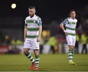 23 April 2019; Jack Byrne of Shamrock Rovers during the SSE Airtricity League Premier Division match between Shamrock Rovers at Bohemians at Tallaght Stadium in Dublin. Photo by Seb Daly/Sportsfile