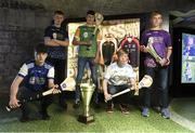 24 April 2019; In attendance, from left, Daniel Bowe of Laois, Adam O'Connor of Dublin Plunkett, John Coughlan of Offaly, Gerard Ryan of Dublin Clarke and Oisín Ó Ceallaigh of Wexford at the launch of the Bank of Ireland Celtic Challenge 2019 at the EPIC Museum, CHQ Building in Dublin. Photo by Harry Murphy/Sportsfile