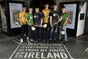 24 April 2019; In attendance, from left, Rory O'Neill of Donegal, Cormac White of Leitrim, Thomas Collins of Galway Tribesmen, Eoin Kiernan of Roscommon, Fionn Moylan of Sligo and Paddy Dozio of Mayo at the launch of the Bank of Ireland Celtic Challenge 2019 at the EPIC Museum, CHQ Building in Dublin. Photo by David Fitzgerald/Sportsfile