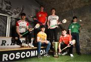 24 April 2019; In attendance, from left, Mark McCann of Tyrone, Lukas Boyd of Down and Shane McKenna Antrim, Darragh McGilligan of Derry, Shea Harvey of Armagh and Joe O'Connor of Fermanagh at the launch of the Bank of Ireland Celtic Challenge 2019 at the EPIC Museum, CHQ Building in Dublin. Photo by Harry Murphy/Sportsfile