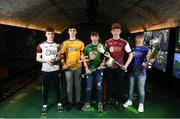 24 April 2019; In attendance, from left, Keith Dervan of Galway McDonagh, Diarmuid Mullins of Clare Saffrons, Jack O'Reilly of Limerick Treaty, Michael Walsh of Galway Maroon and David Keogh of Tipperary Blue at the launch of the Bank of Ireland Celtic Challenge 2019 at the EPIC Museum, CHQ Building in Dublin. Photo by David Fitzgerald/Sportsfile