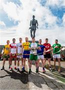 24 April 2019; Padraig Doherty, Donegal, Sean Cassidy, Derry, Niall O Muineachain, Kildare, Naos Connaughton, Roscommon,  Shane Lawless, London, Warren Kavanagh, Wicklow, Paul Sheehan, Down, and Sean Geraghty, Meath, in attendance during a Christy Ring Competition promotion at Cloyne in Co Cork. Photo issued by Sportsfile