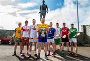 24 April 2019; Padraig Doherty, Donegal, Sean Cassidy, Derry, Niall O Muineachain, Kildare, Naos Connaughton, Roscommon, Warren Kavanagh, Wicklow,  Shane Lawless, London, Paul Sheehan, Down,and Sean Geraghty, Meath, in attendance during a Christy Ring Competition promotion at Cloyne in Co Cork. Photo issued by Sportsfile