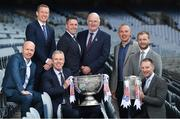 25 April 2019; Sky Sports today announced its GAA fixtures for the 2019 Championship from an event in Croke Park. A total of 20 live, and 14 exclusive, fixtures of Championship action will be available on Sky's multi-platform offering throughout the season. Sky Sports' exclusive coverage gets underway on Saturday May 11th when Brian Cody's Kilkenny take on Mattie Kenny's Dublin in the opening round of the Leinster Senior Hurling Championship in Nowlan Park. Kerry legend and four-time All-Ireland champion Kieran Donaghy joins Sky's blockbuster line-up of GAA legends giving viewers a truly modern view of the modern game. This year will once again see insight and analysis across both codes from Tyrone hero Peter Canavan, former Dublin GAA star Senan Connell, Clare's two-time All-Ireland champion Jamesie O'Connor, Kilkenny's nine-time All-Ireland winner JJ Delaney and four-time All-Star defender Ollie Canning. Lead commentary will come from Dave McIntyre and Mike Finnerty with co-commentary from Nicky English, Mick Fennelly, Dick Clerkin and Paul Earley, and sideline reporting from Damian Lawlor. In attendance at launch are, clockwise from back left, Ollie Canning, Senan Connell, Uachtaráin Cumann Lúthchleas Gael John Horan, Kieran Donaghy, JJ Delaney, Jamesie O'Connor, JD Buckley, MD, Sky Ireland and Peter Canavan. Photo by Brendan Moran/Sportsfile
