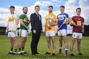 25 April 2019; In attendance, from left, Eoghan Cahill of Offaly, Mikey Boyle of Kerry, Paul Flynn, GPA CEO, Neil McManus of Antrim, Paddy Purcell of Laois and Aonghus Clarke of Westmeath during the Joe McDonagh Competition promotion at Ballindaerreen GAA Club which was the club of Joe McDonagh in Ballinaderreen, Co Galway. Photo by David Fitzgerald/Sportsfile