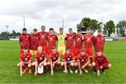 25 April 2019; The Wales squad before the SAFIB Centenary Shield Under 18 Boys' International match between Republic of Ireland and Wales at Home Farm FC in Whitehall, Dublin. Photo by Matt Browne/Sportsfile