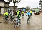 26 April 2019; Staff assemble at the start of the GAA Croke Park Croker2Carrick Official Charity Cycle at Croke Park in Dublin. Photo by Ray McManus/Sportsfile